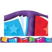 """TREND T-92346 39' x 2.25"""" Scalloped Bright Books Terrific Trimmer, Multicolor"""