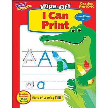 Trend Enterprises® Zaner -Bloser I Can Print Wipe-Off Book (T-94120)