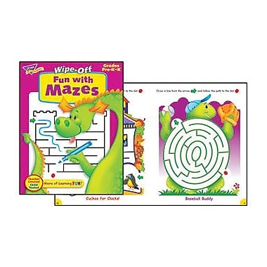 Trend Enterprises® Fun With Mazes Wipe -Off Book