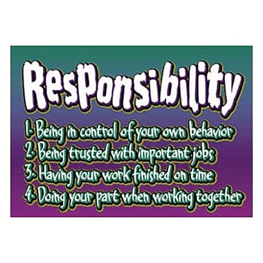 Trend Enterprises® ARGUS® Poster, Responsibility-Being In
