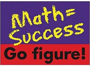 Trend Enterprises® ARGUS® Poster, Math = Success Go Figure