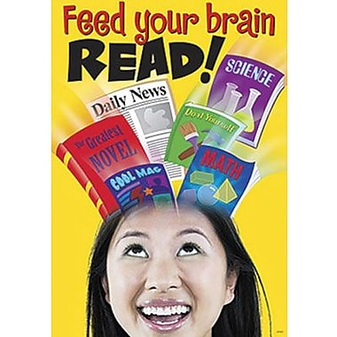 Trend Enterprises® ARGUS® Poster, Feed Your Brain READ