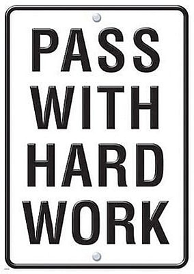 Trend Enterprises® ARGUS® Poster, Pass With Hard Work