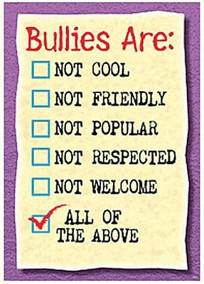 Trend Enterprises® ARGUS® Poster, Bullies Are Not Cool Not Friendly