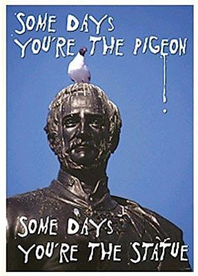 Trend Enterprises® ARGUS® Poster, Some Days You're The Pigeon Some Days You're The Statue