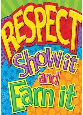 Trend Enterprises® ARGUS® Poster, Respect: SHow It and Earn It