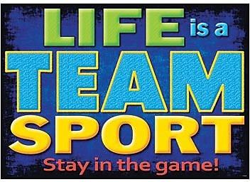 Trend Enterprises® ARGUS® Poster, Life Is A Team Sport