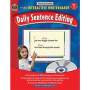 Teacher Created Resources® Daily Sentence Editing Book and CD Set, Grades 1st
