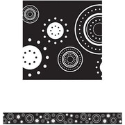 "Teacher Created Resources TCR4529 35"" Straight Circles Border Trim, Black/White"