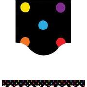 Teacher Created Resources® P-12th Grades Scalloped Bulletin Board Border Trim, Multi Color Dots