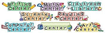 Teacher Created Resources® Mini Bulletin Board Set, Center Signs