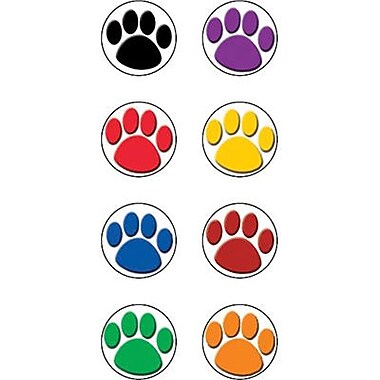 Teacher Created Resources® Mini Stickers, Colorful Paw Prints, 528/Pack