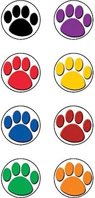 Teacher Created Resources® Mini Stickers, Colorful Paw Prints, 528/Pack (TCR4819)