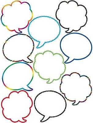 Teacher Created Resources Accents, Speech/Thought Bubbles