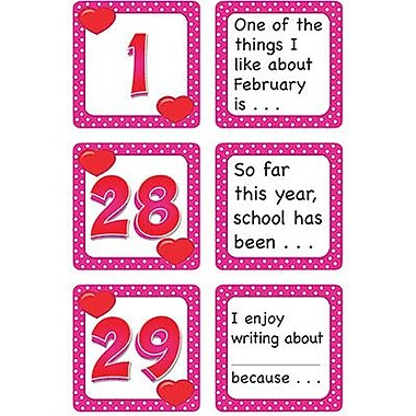 Teacher Created Resources® Calendar Days/Story Starters Mini Pack, Polka Dot, February