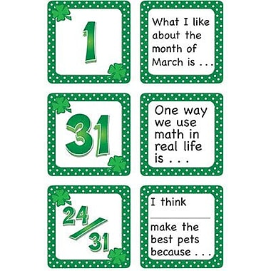 Teacher Created Resources® Calendar Days/Story Starters Mini Pack, Polka Dot, March
