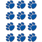 "Teacher Created Resources TCR5117 2.625"" DieCut Paw Prints Mini Accents, Blue"
