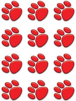 Teacher Created Resources Accents, Red Paw Prints