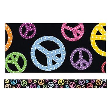 Teacher Created Resources® pre-school - 12th Grades Straight Bulletin Board Border Trim, Peace Signs