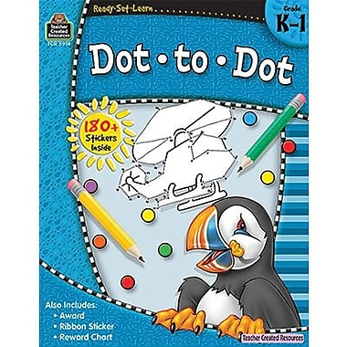 Teacher Created Resources® Ready -Set -Learn, Dot To Dot Book, Kindergarten -Grades 1