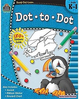 Teacher Created Resources Ready-Set-Learn, Dot-to-Dot, Grade K-1