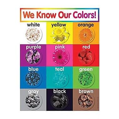 Teacher's Friend® Colors Chart, Grades Pre Kindergarten - 5th