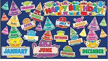 Teacher's Friend Mini Bulletin Board Sets, Monsters Birthday