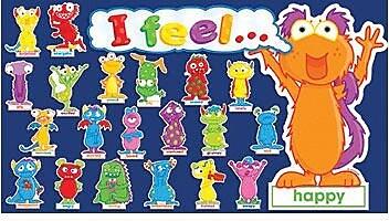 Teacher's Friend Mini Bulletin Board Sets, Monster Feelings