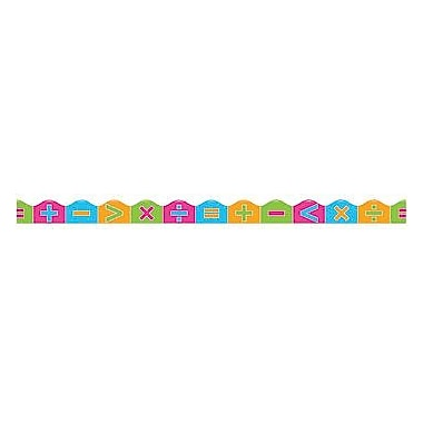 Scholastic Teaching Resources Colourful Math Symbols Scalloped Trimmer, 12/Pack (TF-8292)