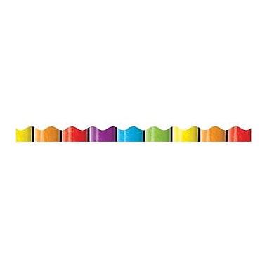 Teacher's Friend® Pre Kindergarten - 5th Grades Scalloped Trim, Rainbow Pencils