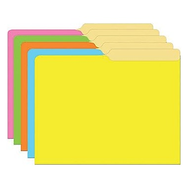 Top Notch Teacher Products® Mini File Folder, Brite Assorted