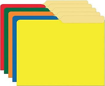 Top Notch Teacher Products® Mini File Folder, Primary Assorted