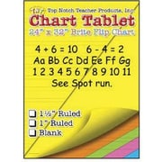 "Top Notch Teacher Products Chart Tablet, Unruled Brite Flip Chart, 24"" x 32"", Assorted Colors, 25 Sheets (TOP3822)"