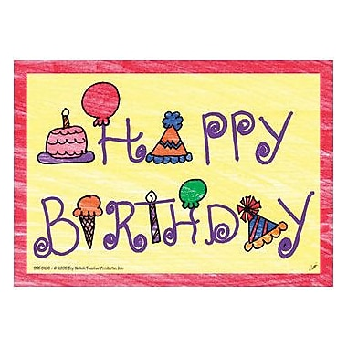 Top Notch Teacher Products Happy Birthday Postcard, 120/Pack (TOP5106)