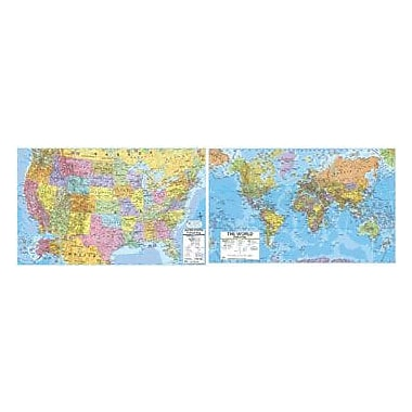 Kappa Map Group/universal Maps U.s. & World Physical/political Map Set, Grades 6th - 12th