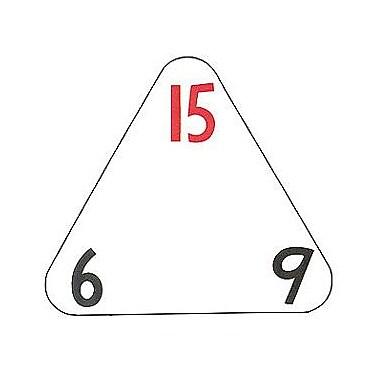 WCA The Original Triangle Flash Cards, Muntiplication & Division