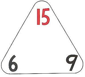 WCA The Original Triangle Flash Cards, Multiplication & Division, 20/PK, 3 PK/BD
