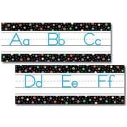 Creative Teaching Press™ Bulletin Board Set, Dots On Black Alphabet, Traditional Manuscript