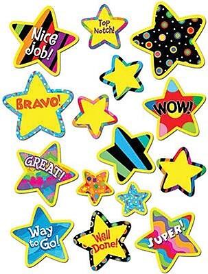 Creative Teaching Press Stickers, Poppin' Patterns Bright Star