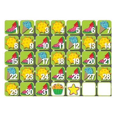 Creative Teaching Press Seasonal Calendar Days, Poppin Patterns®, July
