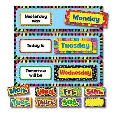 Creative Teaching Press Poppin Patterns Mini Bulletin Board Set, Days Of The Week (CTP6916)