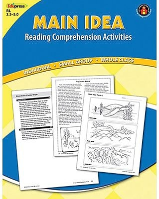 Reading Comprehension Book, Main Idea, Reading Levels 3.5-5.0