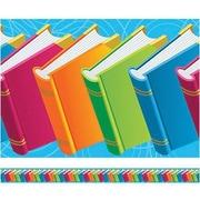 "Edupress EP618R 39"" x 3"" Books Spotlight Books Border, Multicolor"