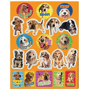 Eureka Stickers, Dogs Motivational, 1440/Pack (EU-655201)