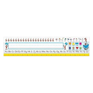 Eureka Pre School - 1 Grade Name Plate, Dr. Seuss Cat In The Hat Elementary, 36/Pack (EU-833183)