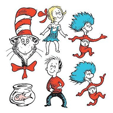 Eureka Two-sided Deco Kit, Dr. Seuss Characters, 36/Pack (EU-840226)