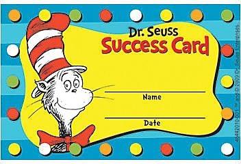Eureka Dr. Seuss Cat in the Hat Reward Punch Card