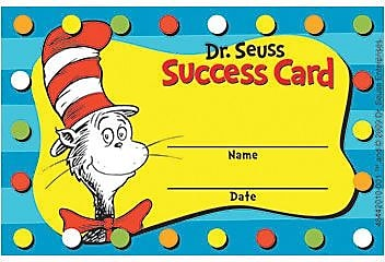 Dr. Seuss Cat in the Hat Reward Punch Cards