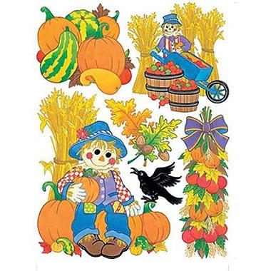 Eureka® Window Cling, Harvest Scarecrows