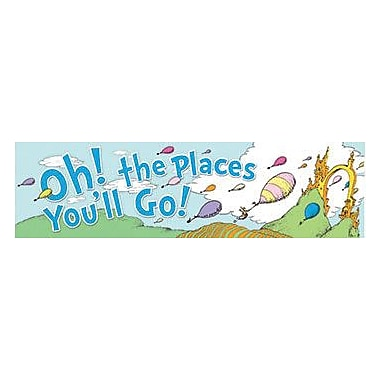 Eureka® Dr. Seuss Toddler - 6th Grades Colourful Classroom Banner, Oh! The Places You'll Go